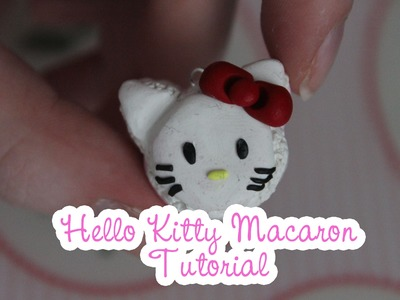 Hello Kitty Macaron Polymer Clay Tutorial