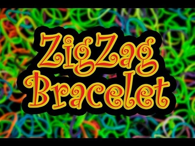 How to make a ZigZag Rainbow Loom Bracelet HD