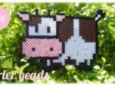 Kawaii Cow in Perler Beads I Ideas and Inspiration |