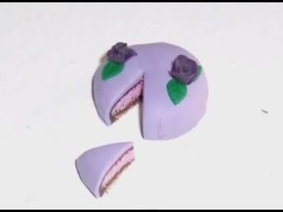 Polymer Clay Miniature - Purple Layer Cake
