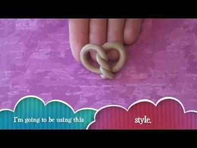 Polymer clay pretzel