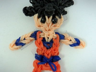 Rainbow Loom Goku - Dragon Ball Z - Action Figure.Charm - Gomitas