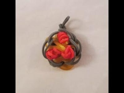 Rainbow Loom- How to Make a Spaghetti and Meatballs Charm (Original Design)