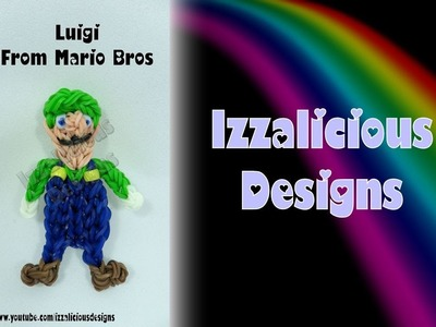 Rainbow Loom Luigi from Mario Bros Action Figure.Charm - Gomitas