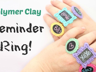 ♦ Back to School ♦ Reminder Ring - Miniature Blackboard - Polymer clay Tutorial