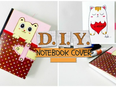 ✂ DIY- customized notebook cover & cute doodle