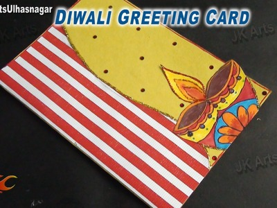 DIY Diwali Greeting Card | How To Make | JK Arts 701