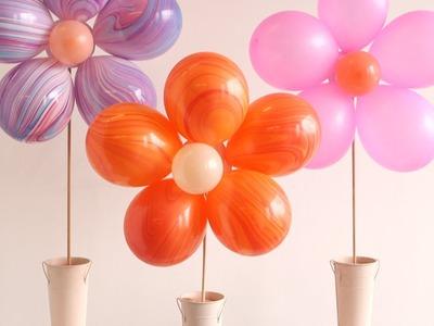 DIY Floral Balloon Bouquet