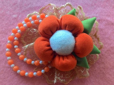 DIY-how to make a beautiful brooch model 1
