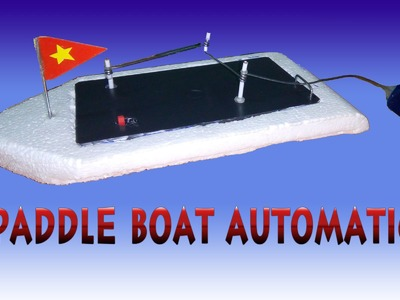 [DIY] How To Make Paddle boat Automatic