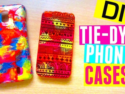 DIY Phone Cases with Nail Polish & Sharpie: Tie Dye & Tribal Print