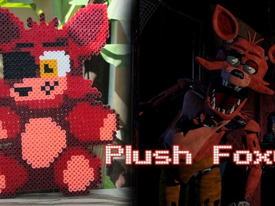 DIY: Plush Foxy from FNAF | Bead Sprites (Perler.Hama Beads)