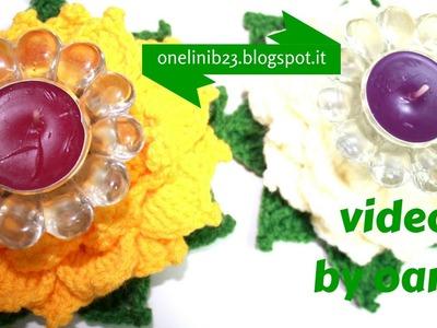 Fiore di loto all'uncinetto