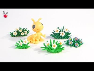 FLOWER - KWIATEK - polymer clay tutorial - z modeliny