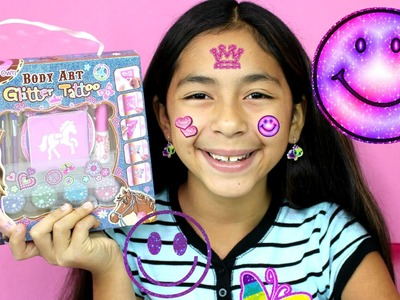 FUN DIY Body Art Glitter Tattoos How To Cute Sparkly Art | B2cutecupcakes
