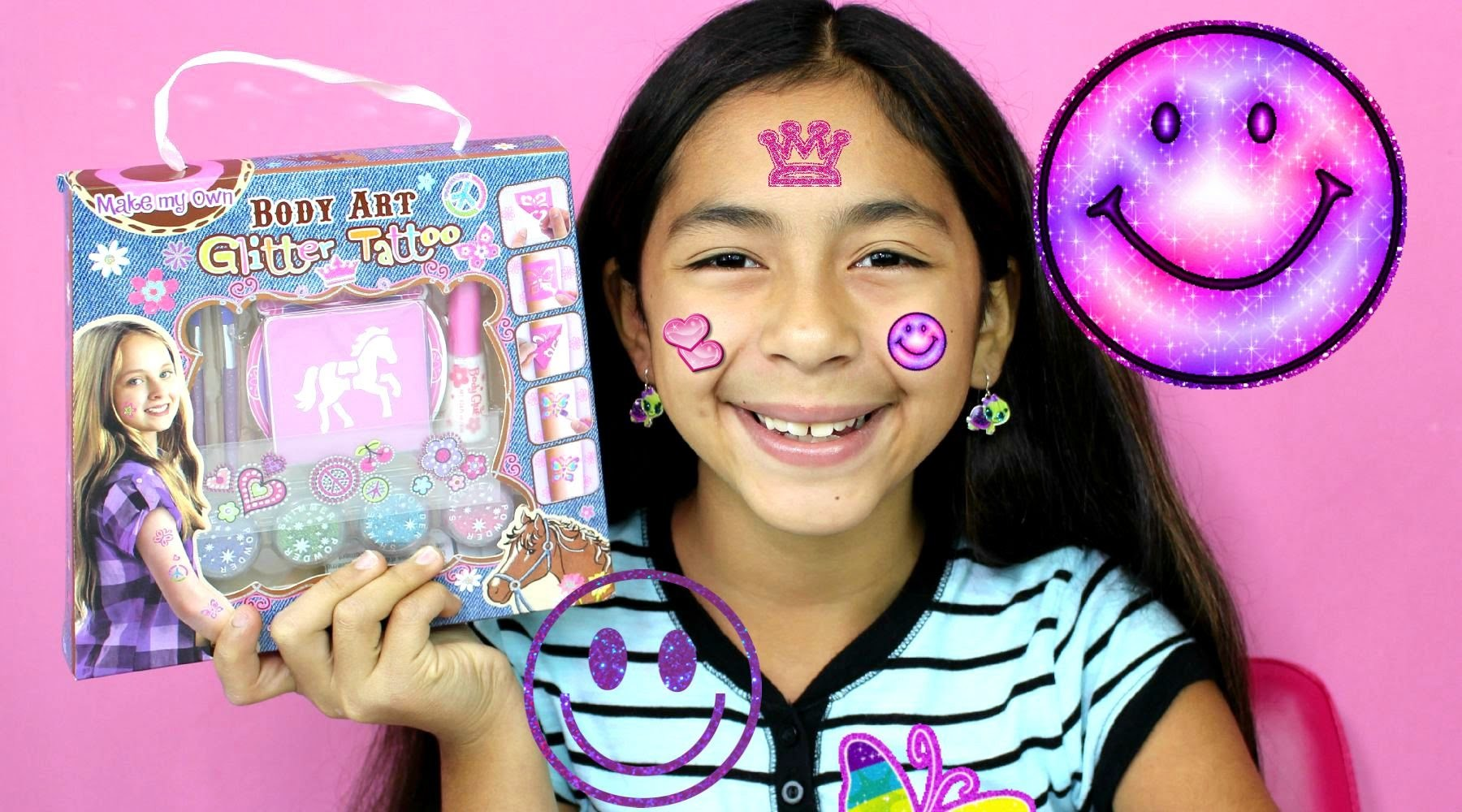 FUN DIY Body Art Glitter Tattoos How To Cute Sparkly Art | B2cutecupcakes