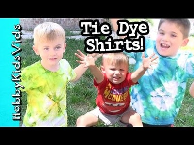 HobbyKids Make Tie Dyed Shirts! DIY HobbyMema Arts and Crafts by HobbyKidsVids