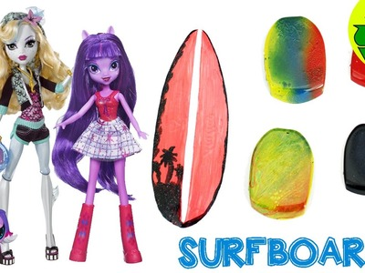 How to Make a DOLL SURFBOARD  - Dollhouse DIY - Easy Doll Crafts