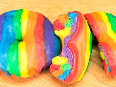 How to Make Rainbow Donuts (Rainbow Doughnuts) from Cookies Cupcakes and Cardio