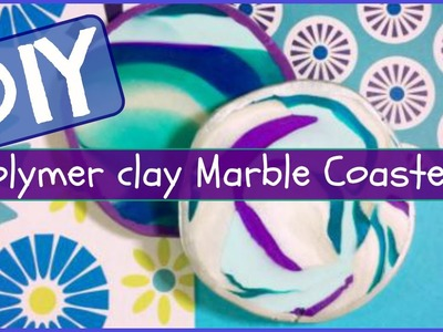 HOW TO: Polymer Clay Marble Coasters! - PINTEREST INSPIRED!