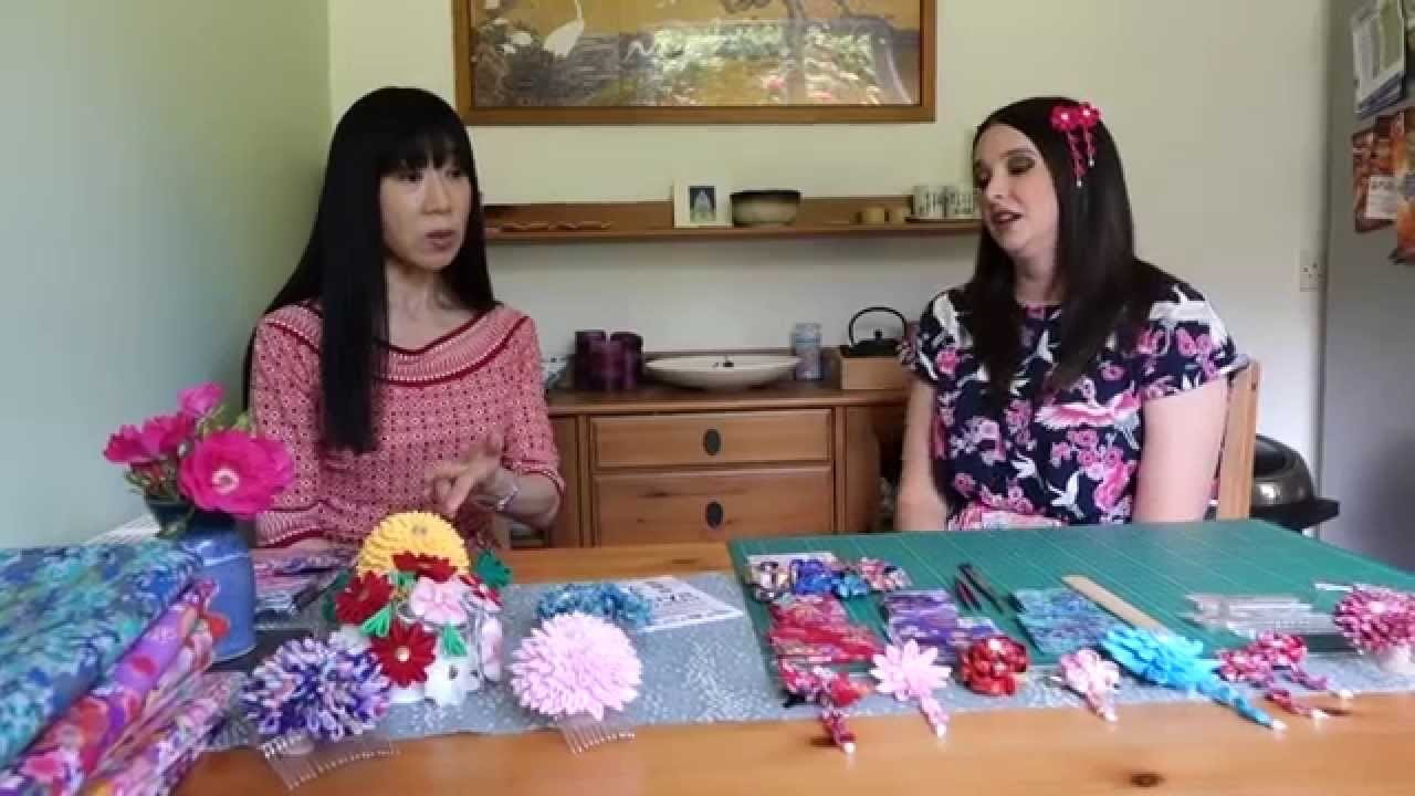 Let's learn how to make Kanzashi (Japanese hair ornament)!