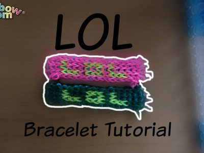 LOL Rainbow Loom Bracelet Tutorial (1 LOOM)
