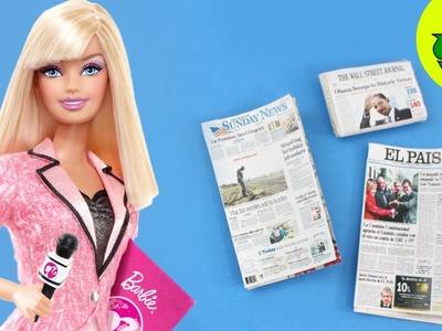 Make a Realistic DOLL NEWSPAPER  - Dollhouse DIY - Easy Doll Crafts