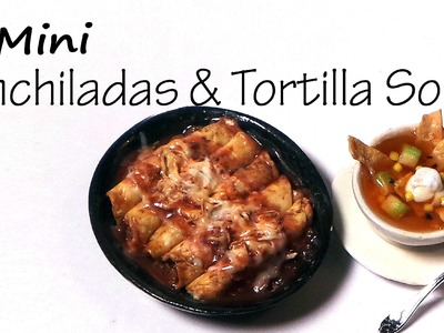 Mexican Enchiladas & Tortilla Soup - Polymer Clay Tutorial