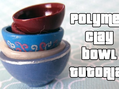 Miniature Bowl Tutorial - a polymer clay tutorial by Talty