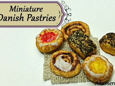Miniature Danish Pastries - Polymer Clay Tutorial
