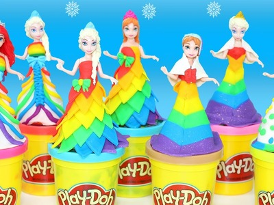 Play-Doh Princess Rainbow Dress Maker Disney Princess Frozen Elsa Anna Cinderella Ariel MagiClip #6