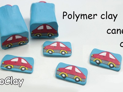 Polymer clay Millefiori Car Cane Tutorial
