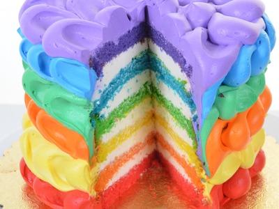 Rainbow birthday Cake Making Tutorial