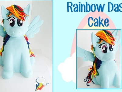 Rainbow Dash My Little Pony Cake - How to make from Creative Cakes by Sharon