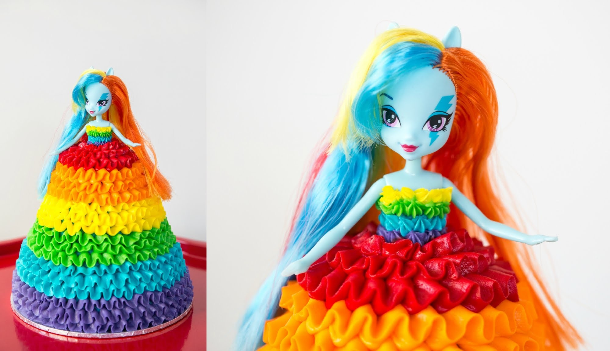 'Rainbow Dash' My Little Pony Doll Cake - CAKE STYLE