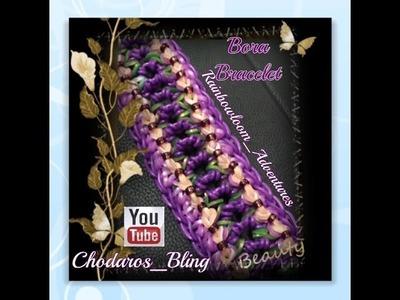 Rainbow Loom Band Bora Bracelet Tutorial. How to