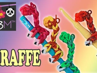 Rainbow Loom Band Giraffe Pencil Hugger Charm | Loomless | How to