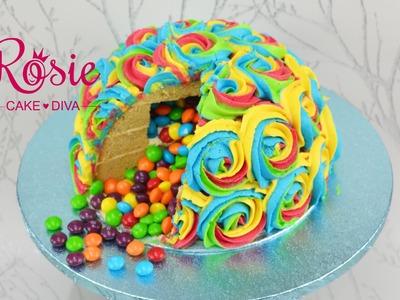Rainbow Pinata Cake Tutorial