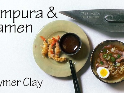 Shrimp Tempura & Pork Ramen - Polymer Clay Tutorial