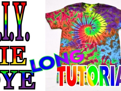 Tie Dye a Spiral Crinkle Rainbow Shirt [Long Tutorial]