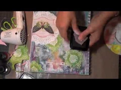 """Butterfly"" Friday Mixed Media Art Journal Tutorial"