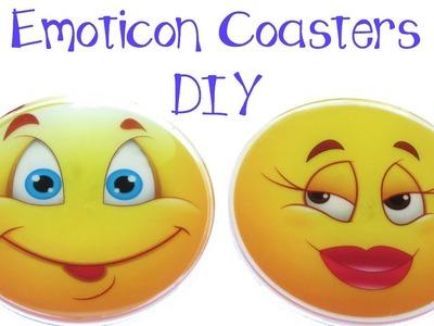 DIY Emoticon Coasters ~ Another Coaster Friday Craft Klatch Emoji