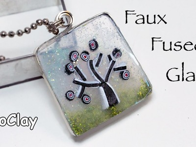 DIY Faux Fused Glass pendant.