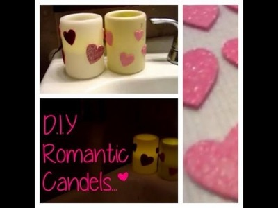 DIY Glitter Valentine Day Candles (Glitter, Romance)