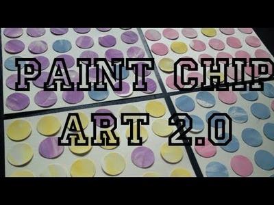 DIY: Paint Chip Art 2.0 ♡ Theeasydiy #ArtForTheNonArtist