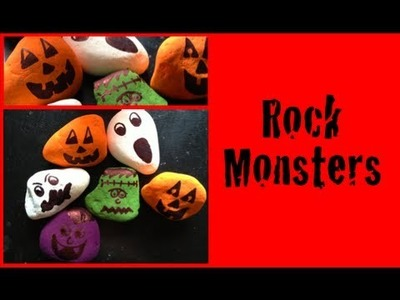 DIY: Rock Monsters ♡ Theeasydiy #HalloweenHorror