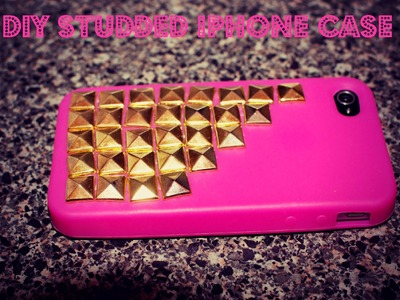 ♡DIY Studded Iphone Case