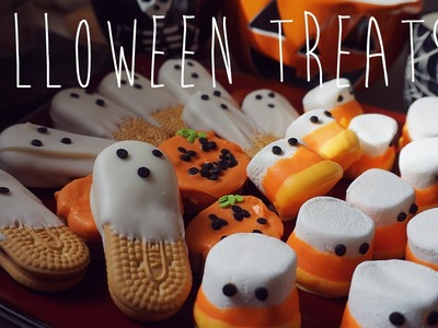 "♥ EASY TREATS: ""Boo-kies"" & Candy Corn Ghosts ♥"