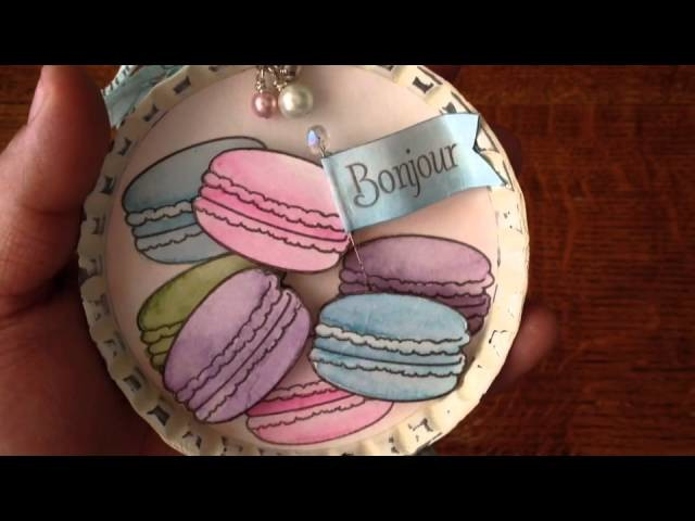 French Macaroon Bottle cap for ArtAttack
