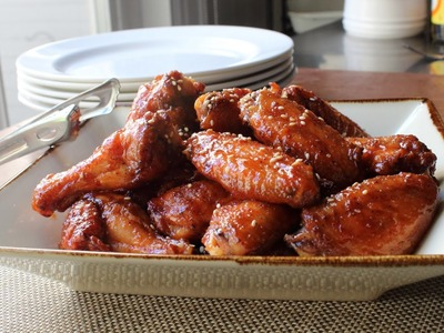 Honey Sriracha Chicken Wings and the Secret to Crispy Baked Wings!